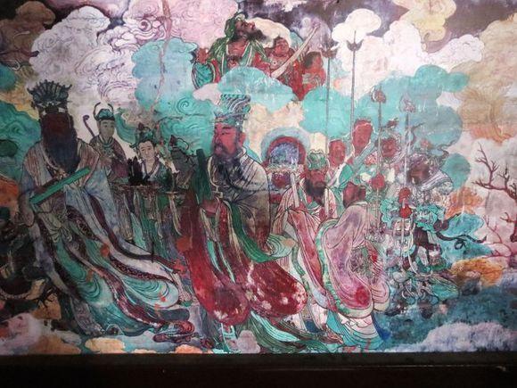 唐朝画圣吴道子作品 河北曲阳北岳庙德宁之殿壁画