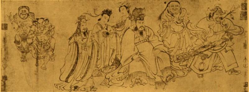 画圣吴道子 送子天王图(局部,宋摹本)