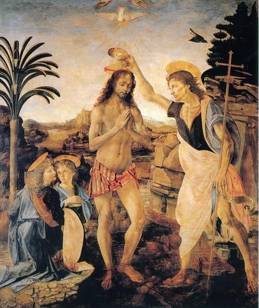 达芬奇的基督受洗
