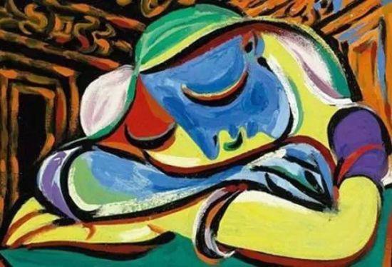 毕加索作品 安睡少女