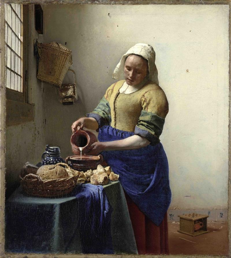 约翰内斯·维米尔 倒牛奶的女仆