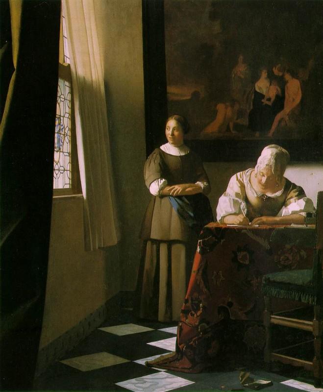 约翰内斯·维米尔 写信的夫人和她的女仆