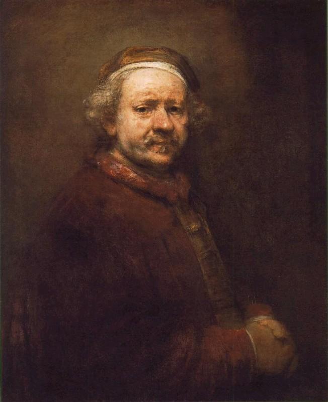 17世纪荷兰伟大画家 伦勃朗 自画像