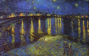 罗納河上的星夜 梵高