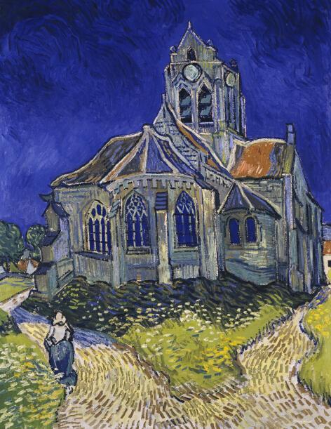 奧维的教堂 梵高