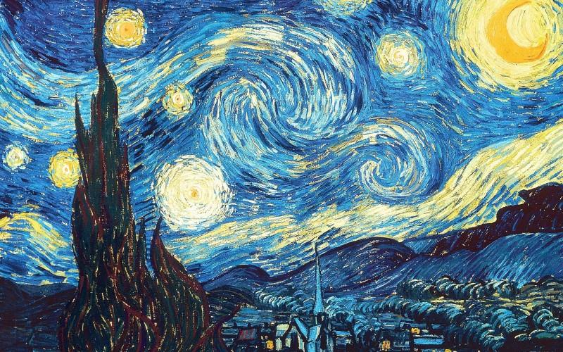 梵高代表作 星夜