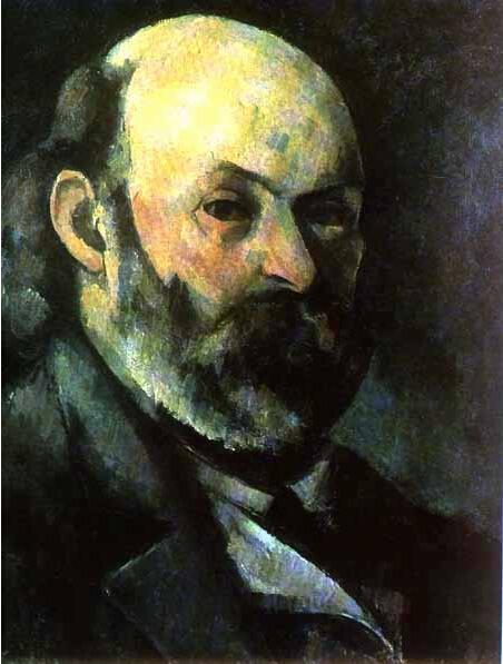 法国画家保罗塞尚自画像