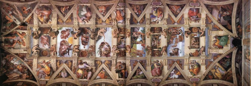 米开朗基罗 西斯廷天顶画《 创世纪 》