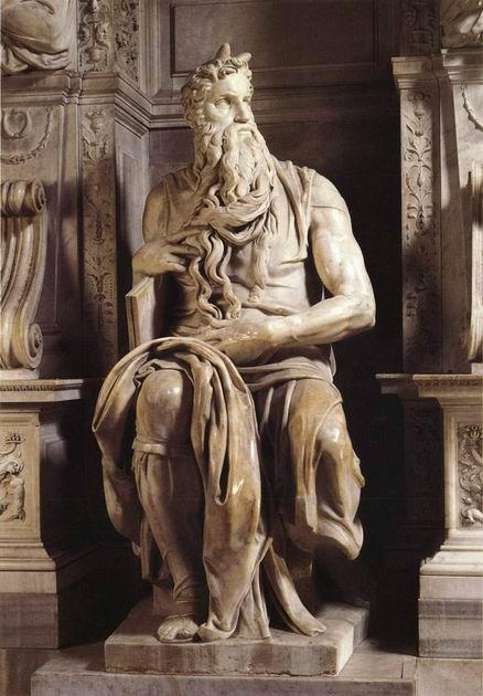 米开朗基罗 摩西雕塑