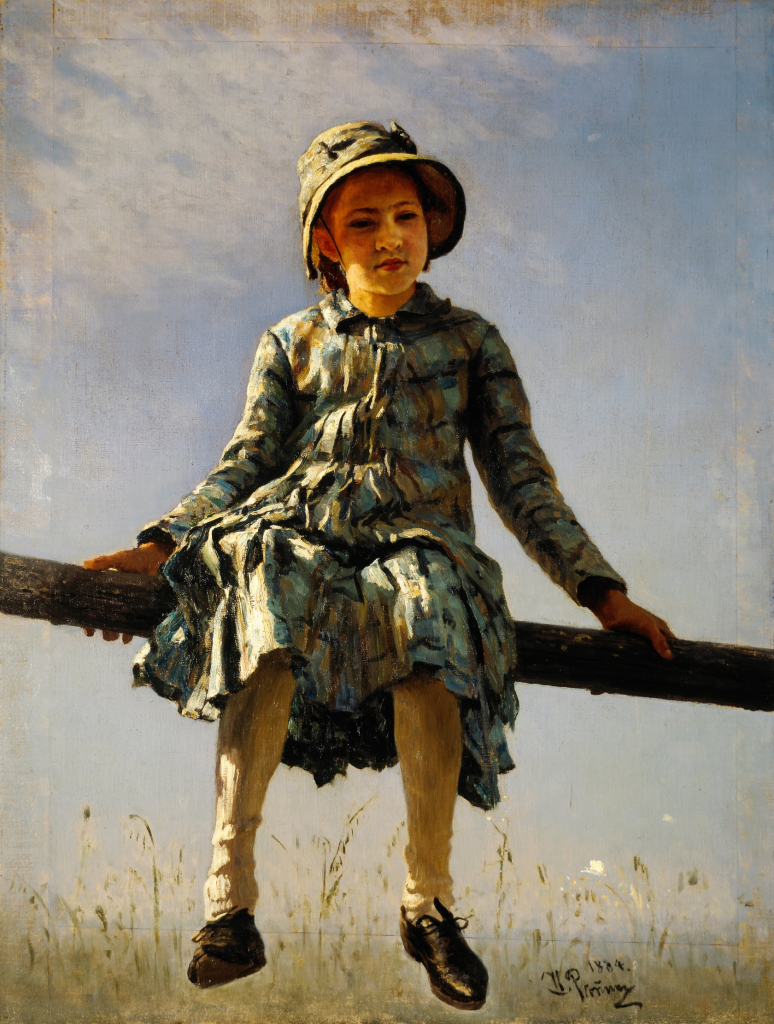 列宾《蜻蜓》(画家女儿列宾娜)