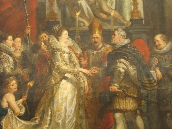 鲁本斯 玛丽·美第奇与亨利四世的婚礼