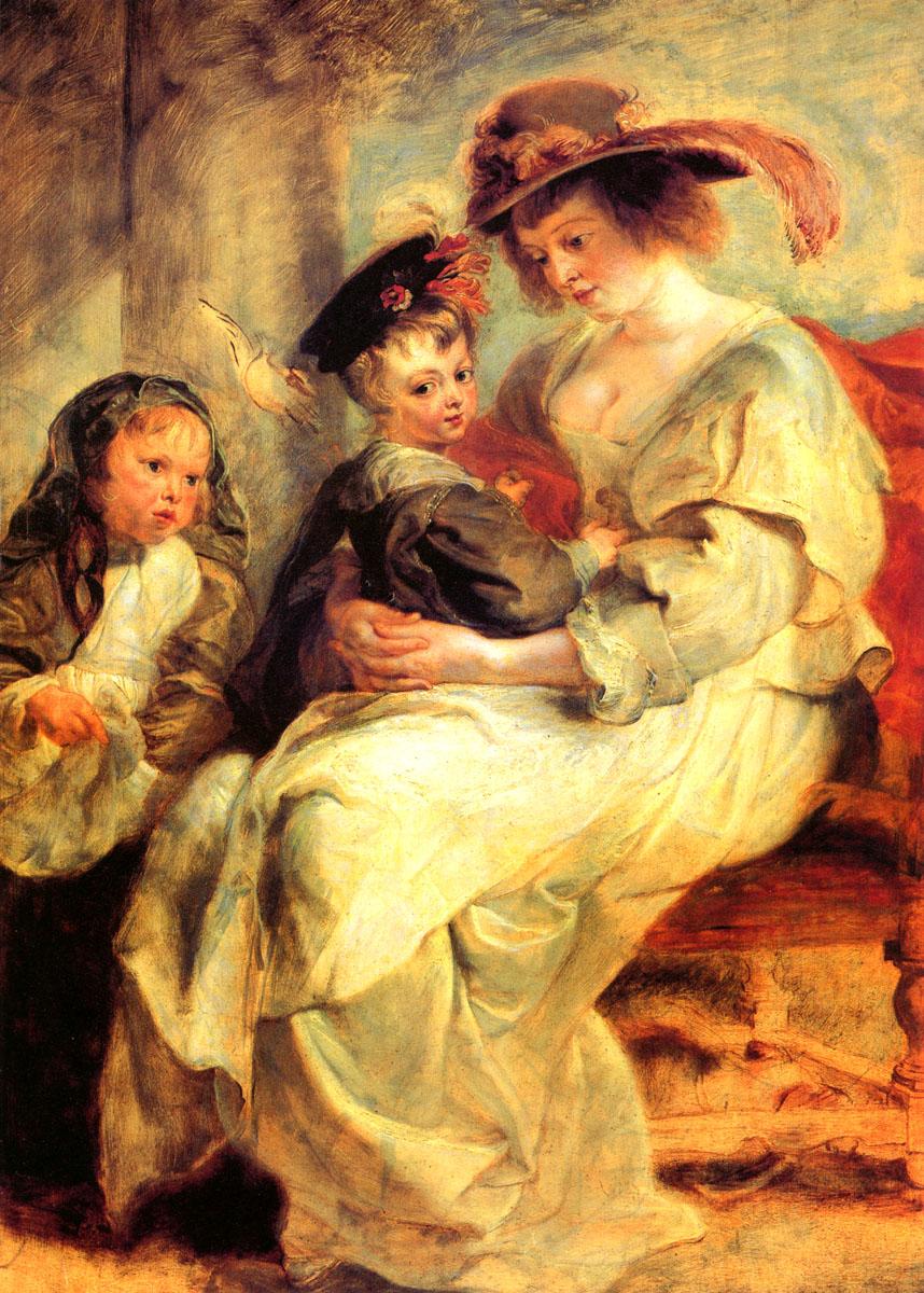 鲁本斯 海伦·芙尔曼和她的两个孩子