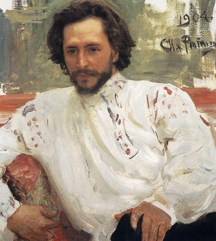 列宾自画像 Ilya Yafimovich Repin  ИльЯЕфИМОВИЧРеПИН