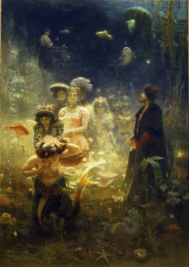 列宾  《萨特阔在水下王国》