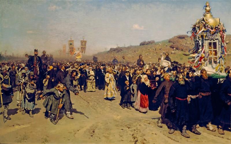 列宾《库尔斯克省的宗教行列》
