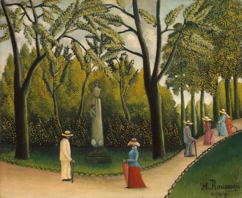 亨利卢梭《村中散步》