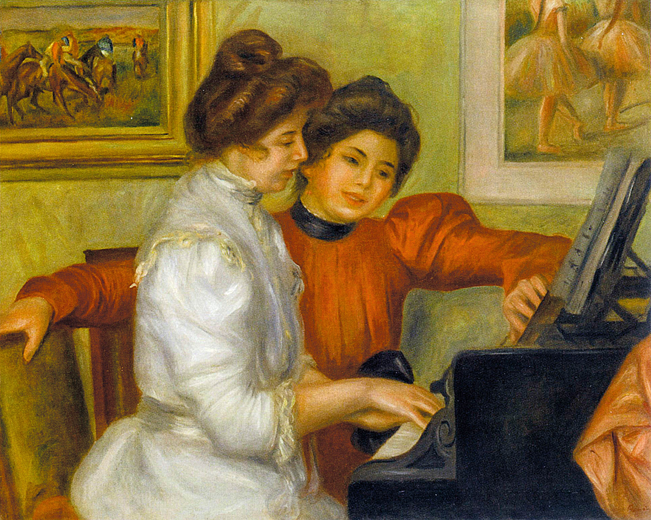 《钢琴边的伊沃娜和克里斯蒂娜》