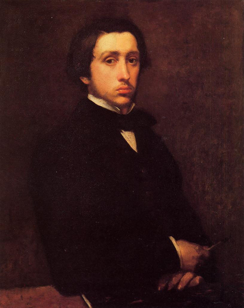 埃德加·德加 自画像 Self Portrait . 1855.