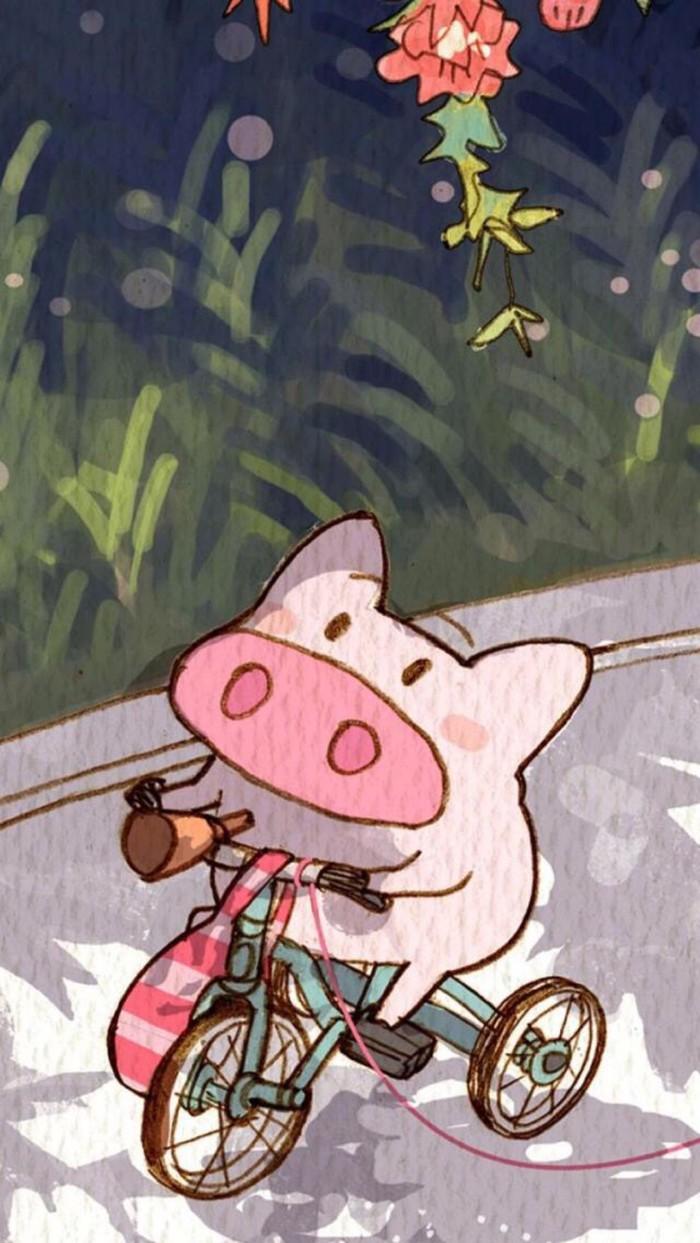 猪乐桃绘画作品