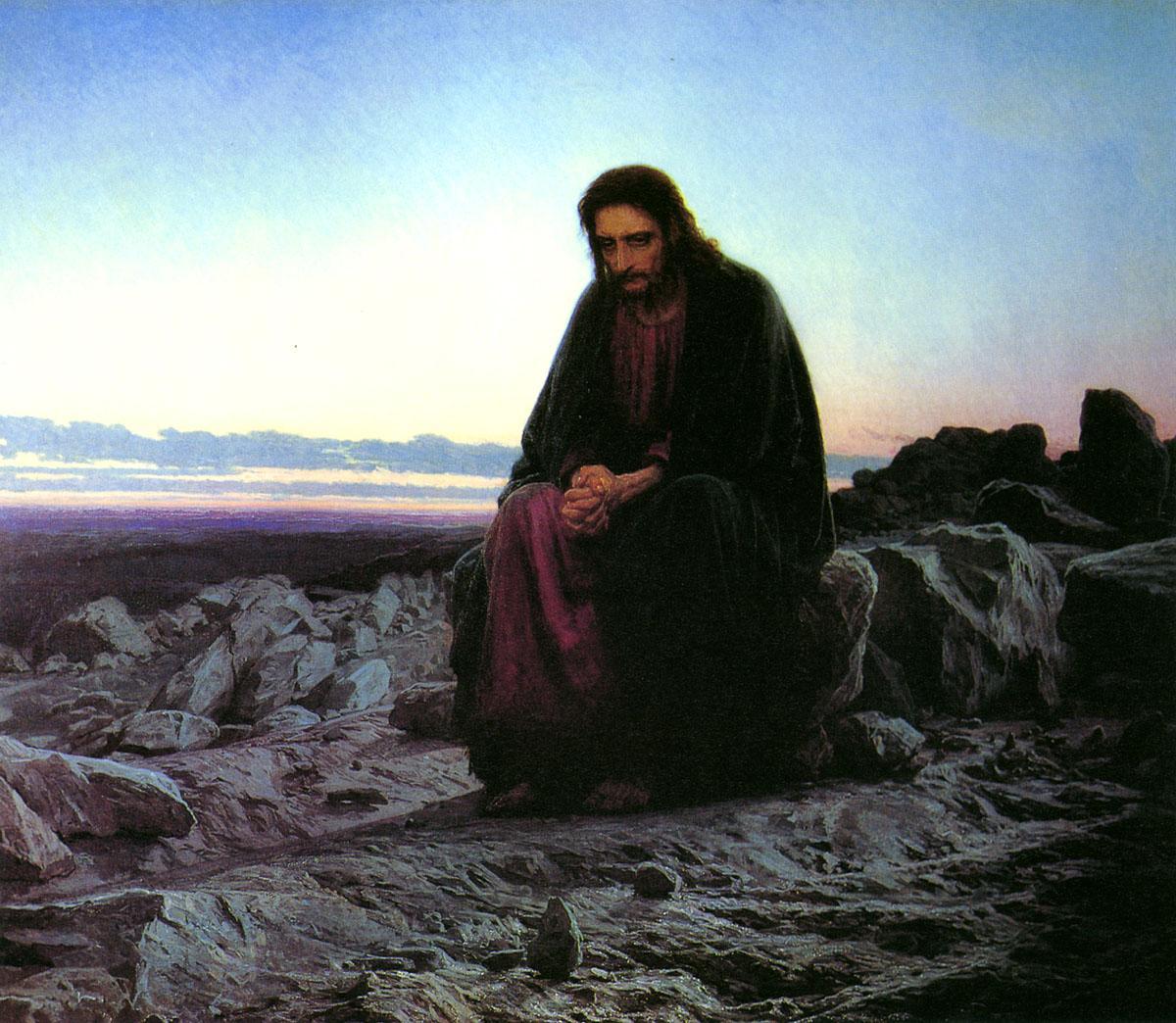 《荒野中的基督》