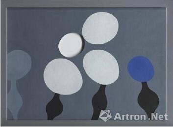 1925年作 阳台(一) 油彩 画板(经裁剪) 作者 尚·汉斯·阿尔普