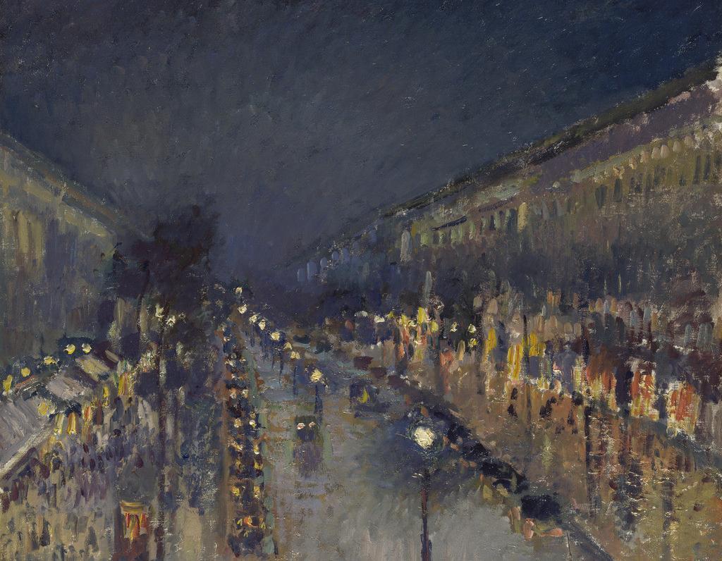 《蒙马特大街, 夜晚》
