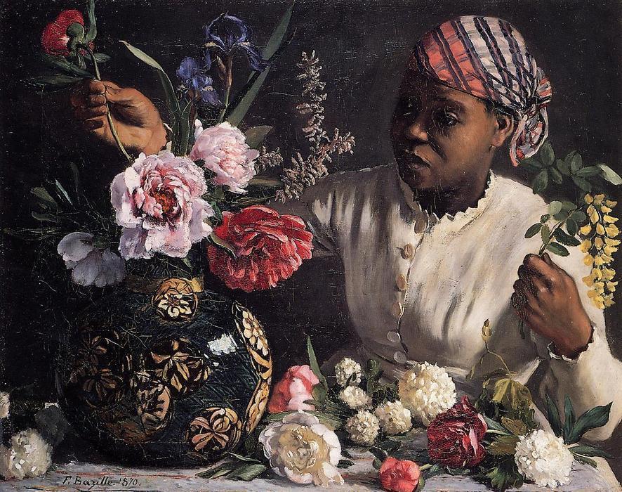 《插牡丹花的黑女人》