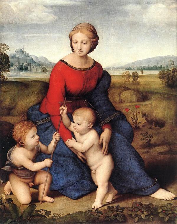 《花园中的圣母》