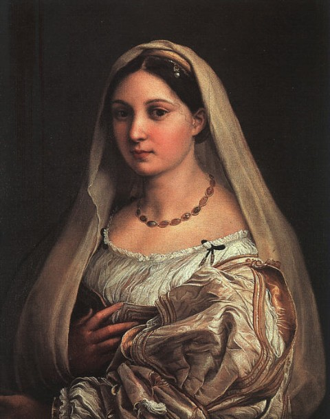 《披纱巾的少女》