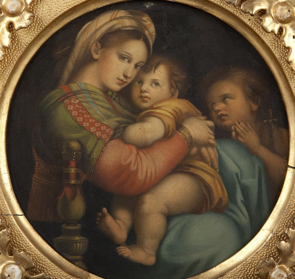 《椅中圣母》