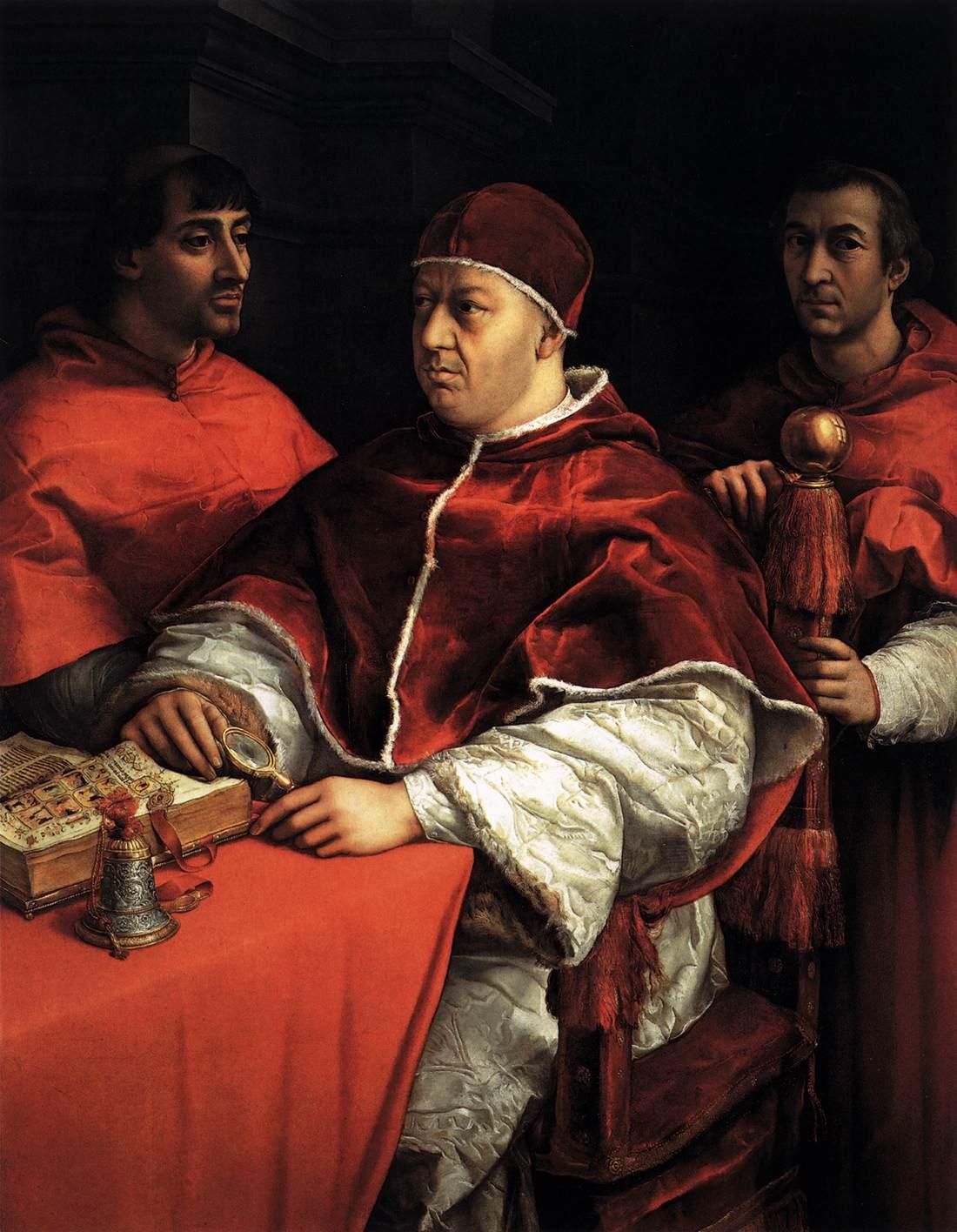 《教皇利奥十世与两位红衣主教》