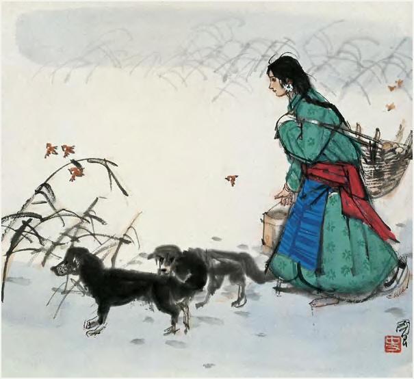 《少女与狗》