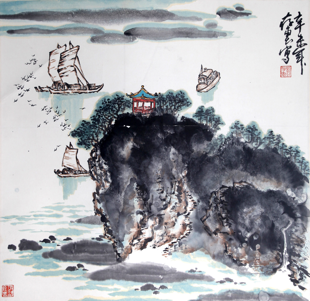 《太湖帆影》