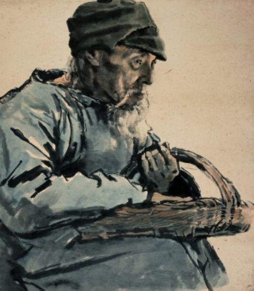 《卖小吃的老人》