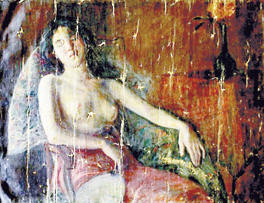 《半裸女像》