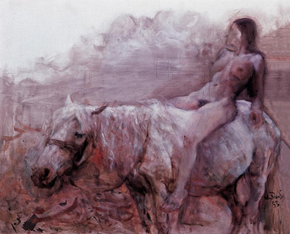 《骑马的女人 》