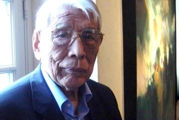 当今著名海外华人抽象画家之一_朱德群_Zhu  DeQun