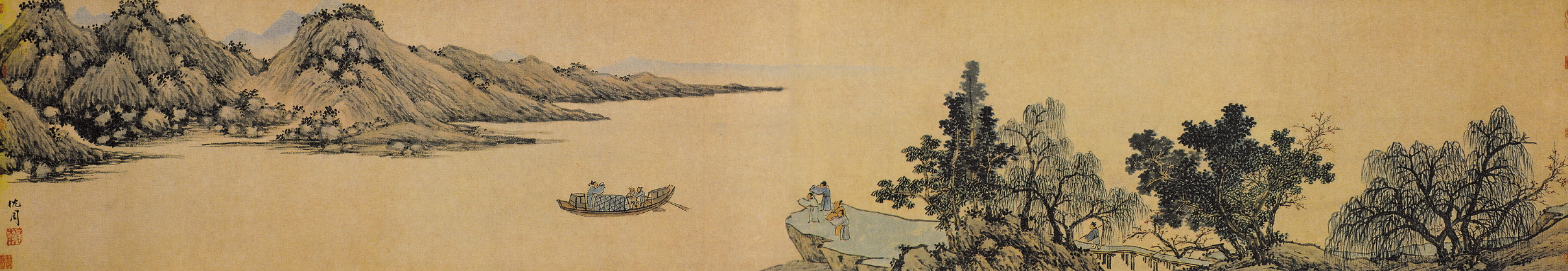 《京江送远图》