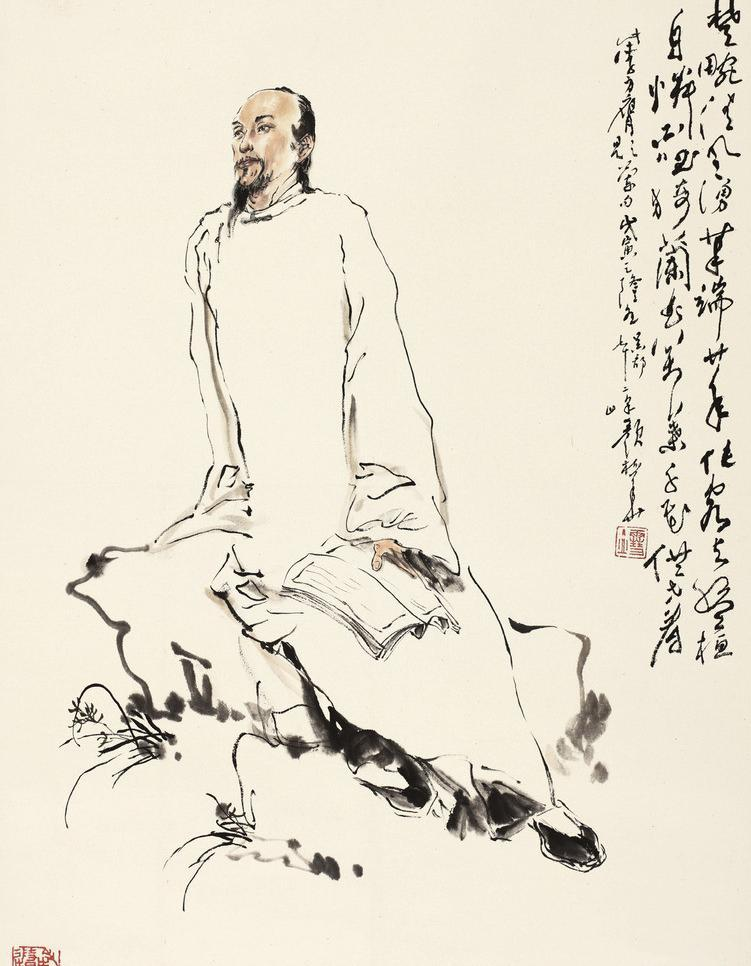 郑板桥肖像