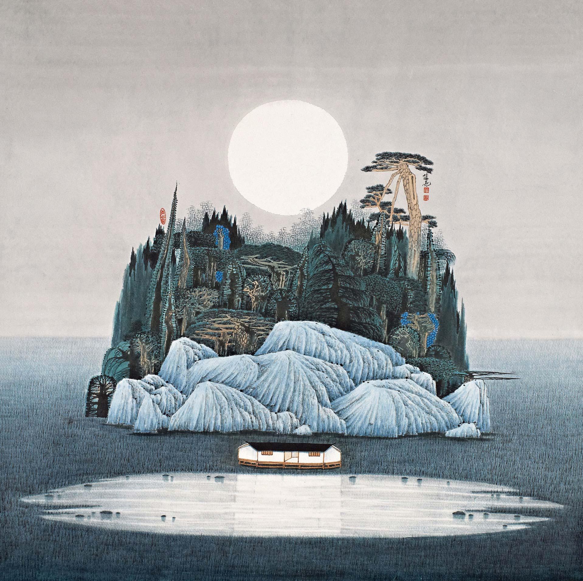《海上生明月》