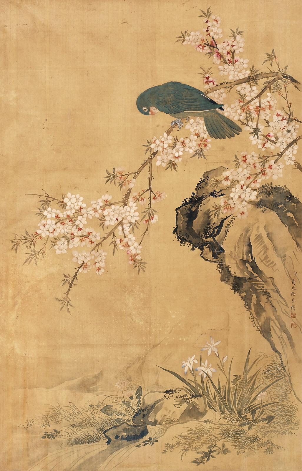《鹦鹉桃花》