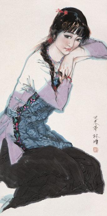 林墉绘画作品