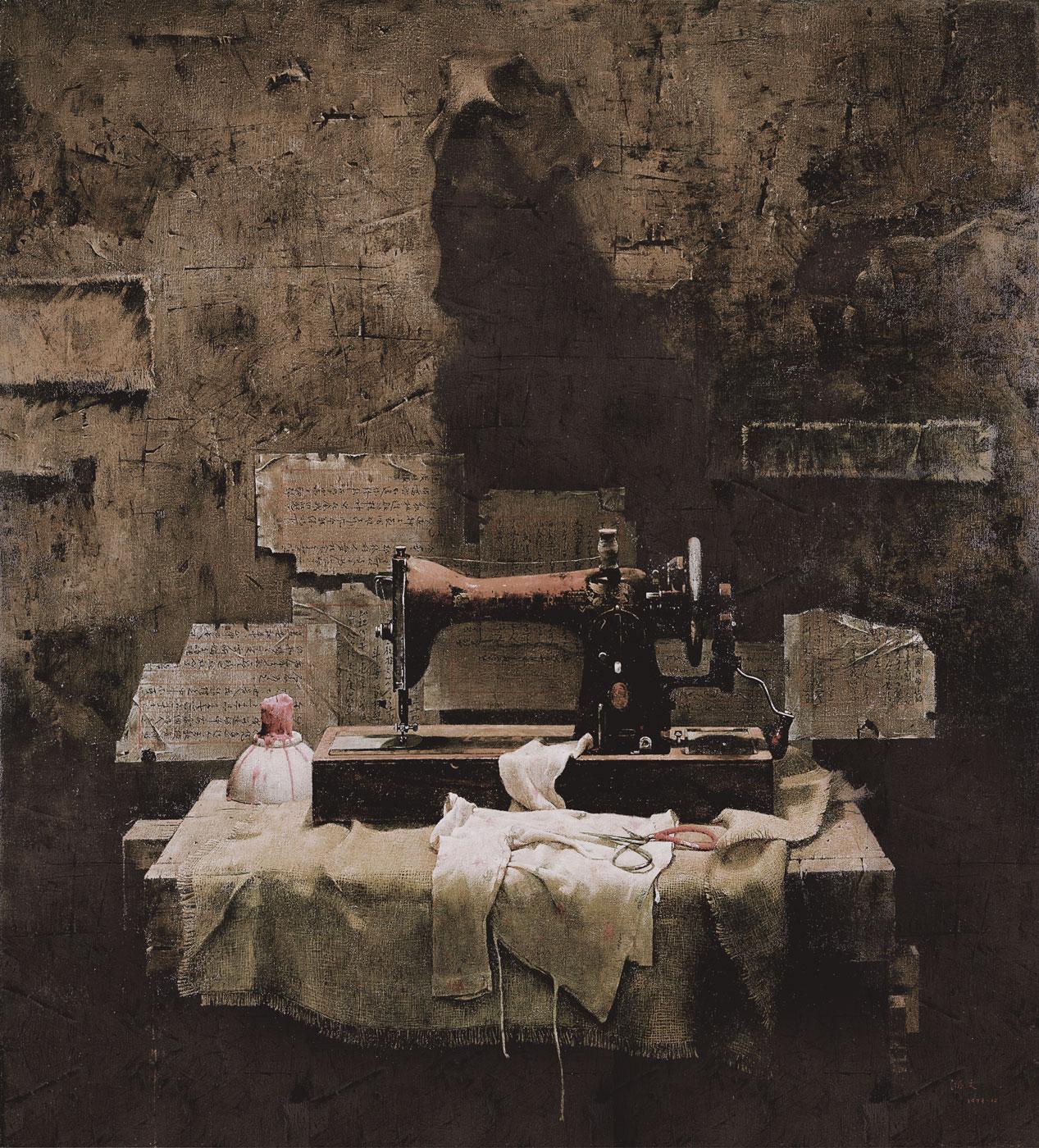 郭润文《永远的记忆》布面油画 121×116CM 1993年