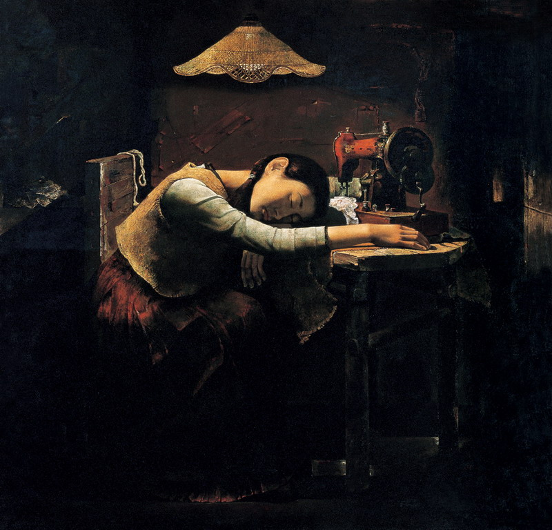 郭润文《梦归故里》布面油画 121×116cm 1995年