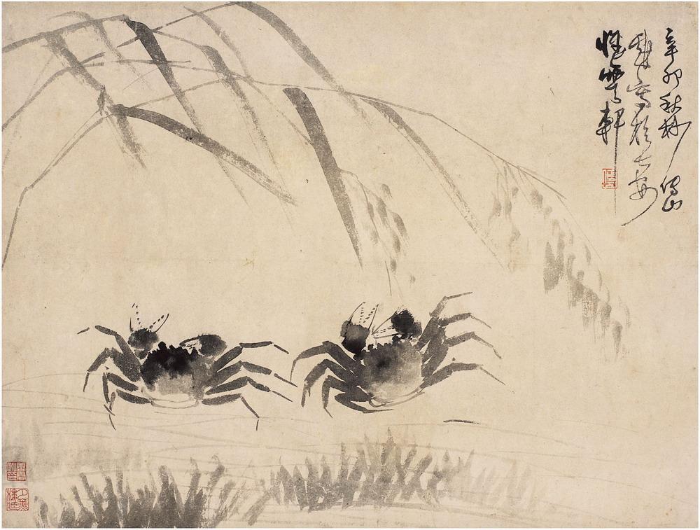 《芦荡秋蟹图》