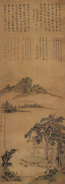 《松溪祝寿图》