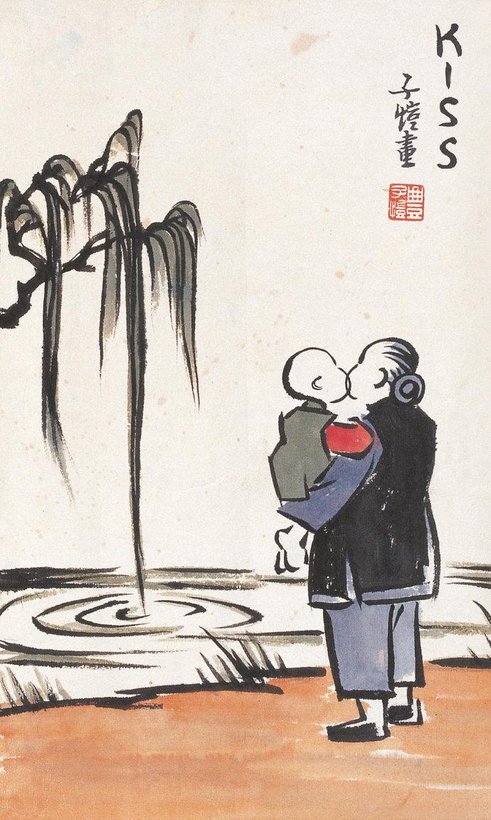 丰子恺绘画作品