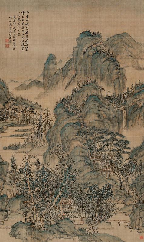 清 张宗苍 《江南春日图》