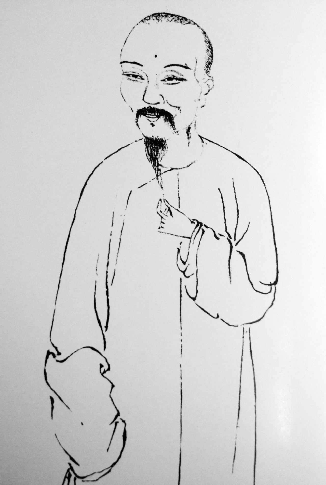 恽寿平肖像