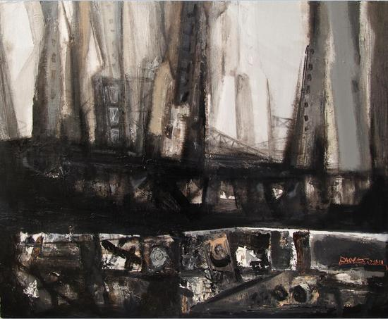 房雨轩《城市的肖像6》 80x100cm 2014年
